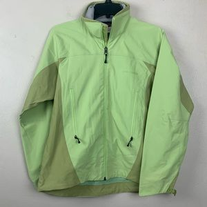 Patagonia Jacket Soft Shell Zip Up Green Hooded S